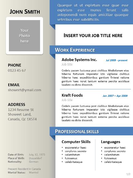 simple clean curriculum vitae template powerpoint 01