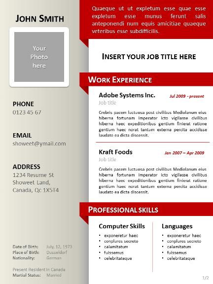 simple clean curriculum vitae template powerpoint 03