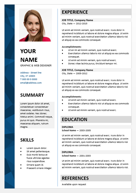 Resume Editable Template. dalston elegant powerpoint resume ...