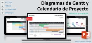 Diagramas de Gantt y Calendario de Proyecto para PowerPoint