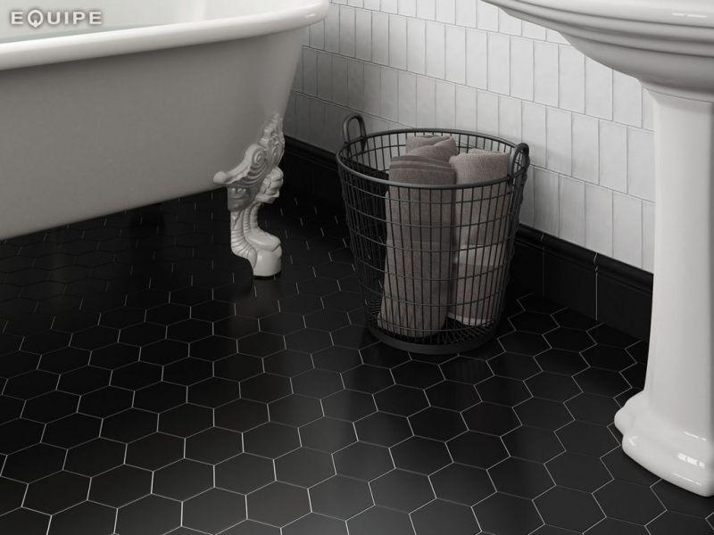 floor tiles hexagonal matte finish