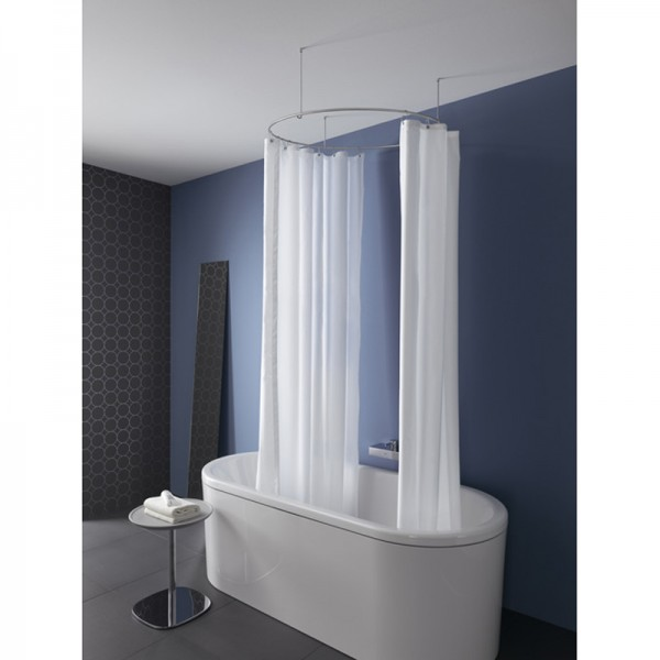 shower curtain rod circle round dr 90 ceiling hold only stainless steel