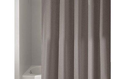 InterDesign Mildew Free Water Repellent Fabric Shower Curtain 72 Inch By Dark Taupe