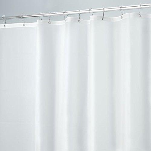 MDesign Mildew Resistant 10 Gauge Heavy Duty Vinyl Shower Curtain Liner U2013  Long, 72u2033 X 84u2033, Frost