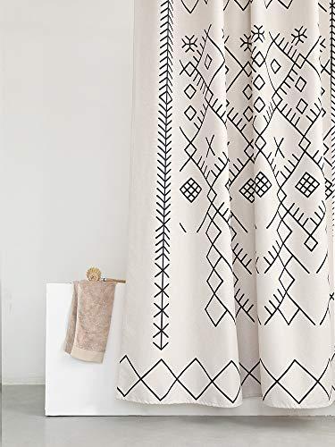 Shower Curtain Cloth Poly Bath Curtains Long Bathroom Fabric Liner Weighted Hem