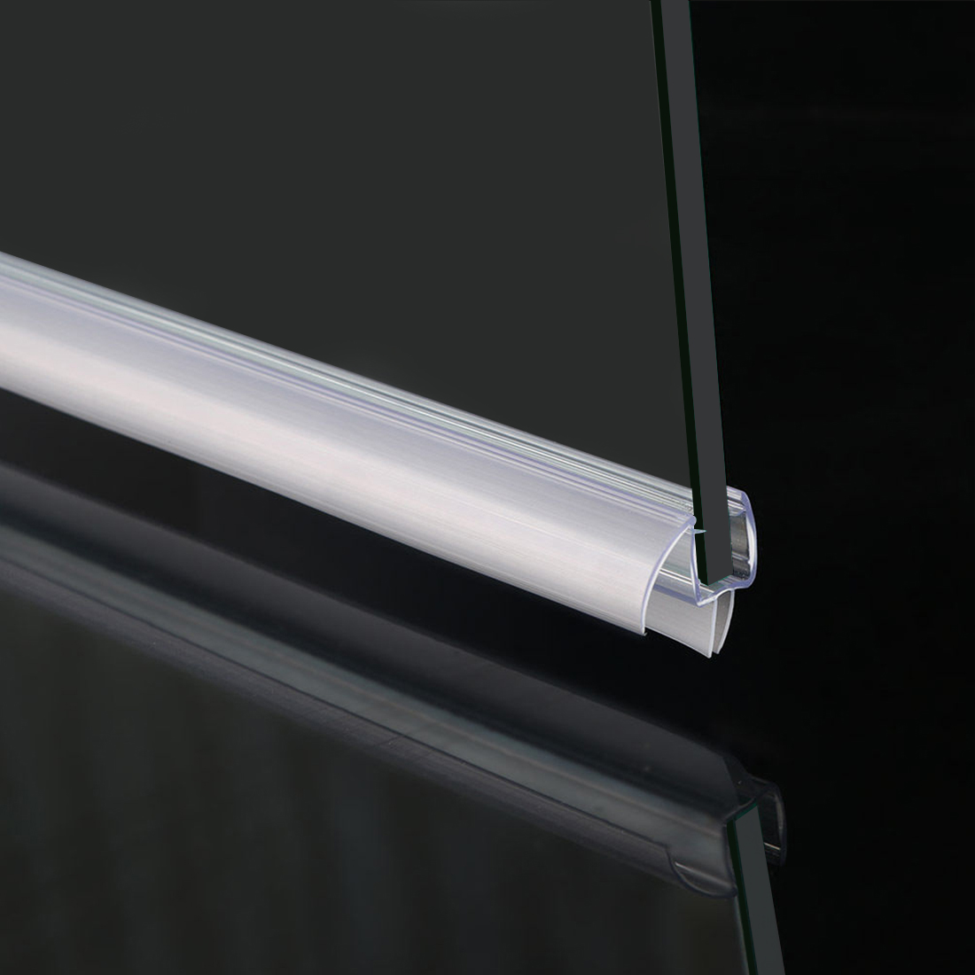 Details About Elegant 3 8 Frameless Glass Shower Door Bottom Seal Sweep Rail 36 In Long