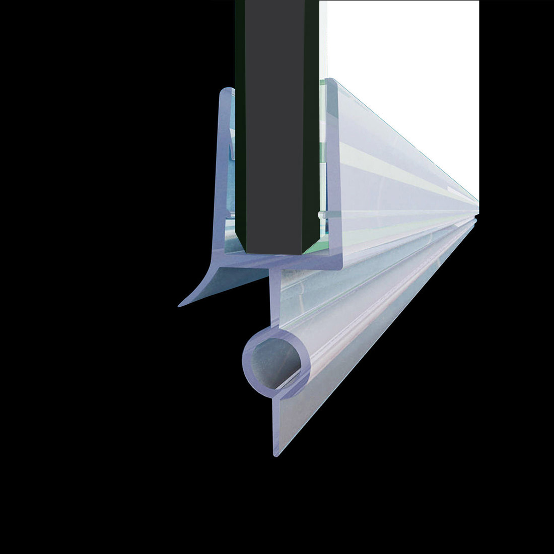 Details About Elegant Fit 1 4 Frameless Shower Door Sweep Bottom Seal Wipe Drip Rail 36