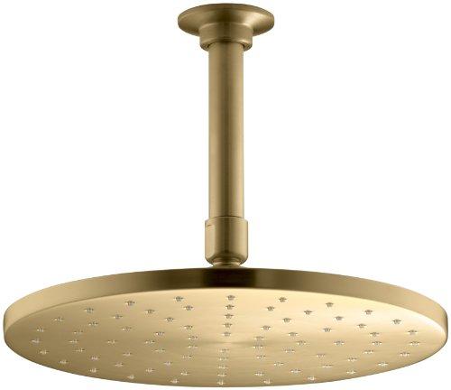 KOHLER K-16244-AF Margaux 2.5 GPM Single-Function Wall-Mount Showerhead Vibrant French Gold