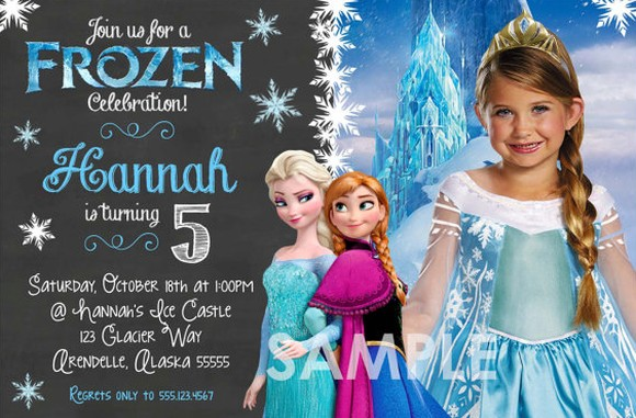 frozen birthday invitation sample with