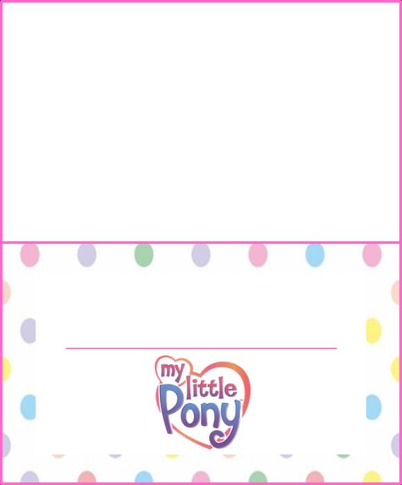 Baby Diaper Template Invitation My Little Pony Invitations