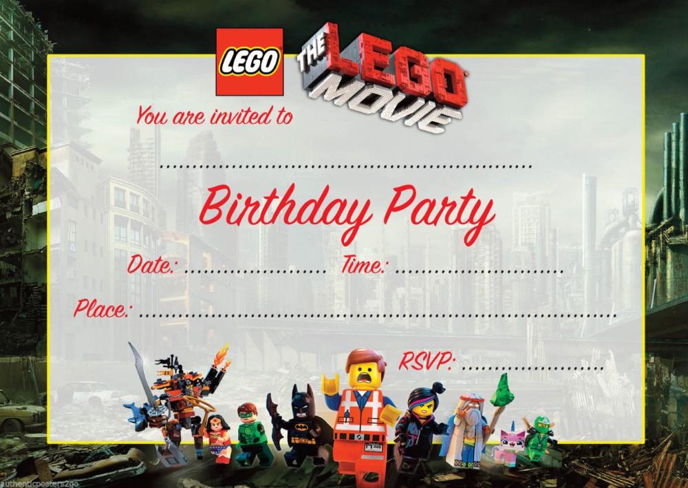 lego movie birthday invitation template
