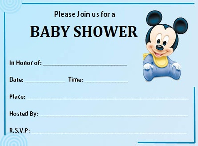 Mickey Mouse Baby Shower Invitation Free Template Invitations Online  Free Online Baby Shower Invitation Templates