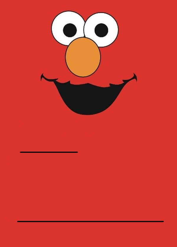 Elmo Invitations Template Free For Birthday Party 5 40th