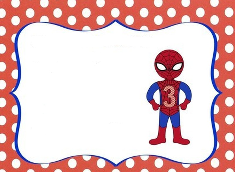 free spiderman party invitation