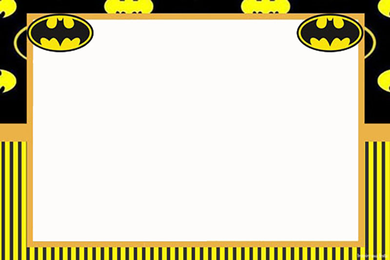 batman free template invitations online