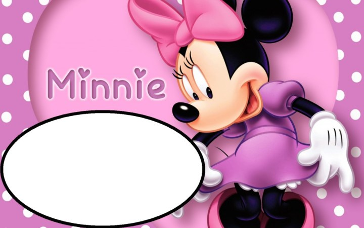 minnie mouse template for invitation
