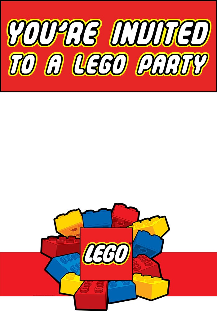 Free Printable Lego Party Invitation Template Templates
