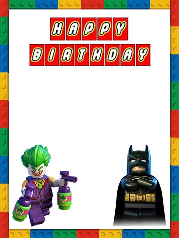 Lego Batman Birthday Invitation Template Free Printable Templates Invitations Online