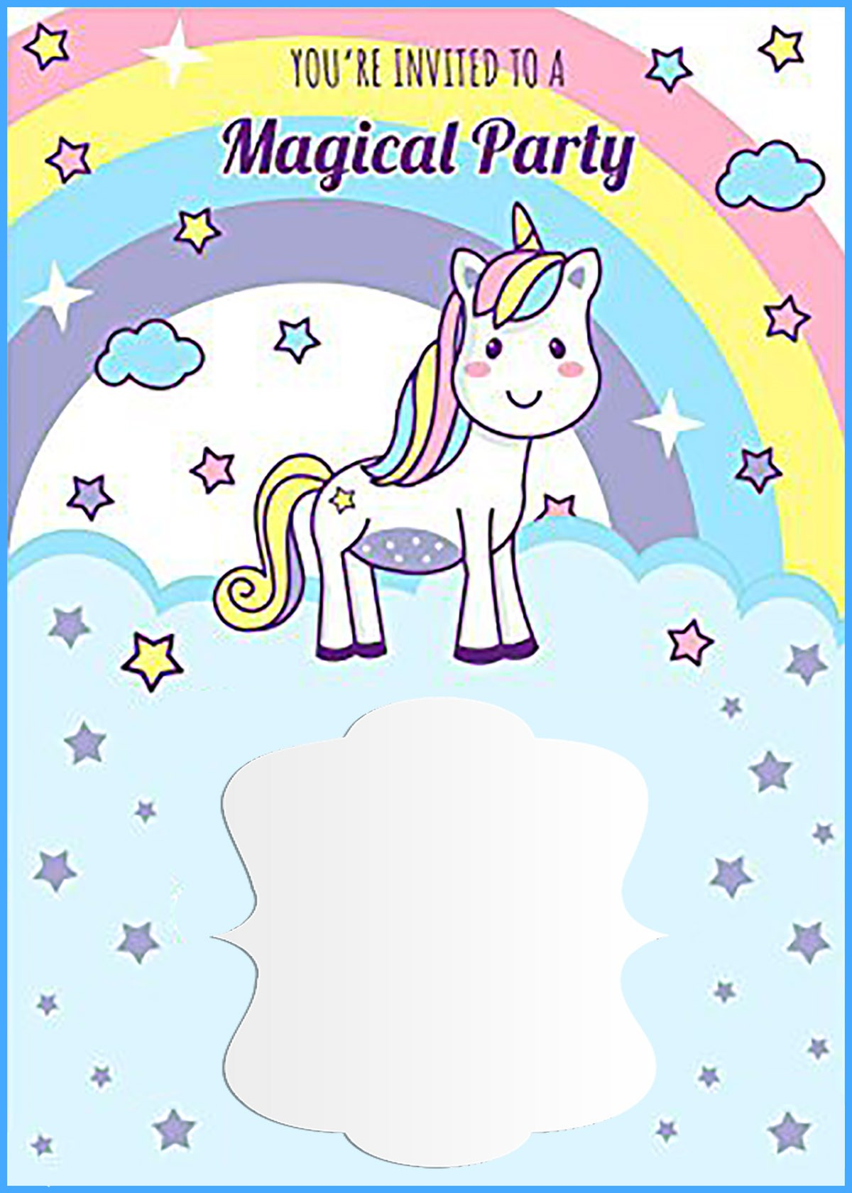 unicorn free printable first birthday