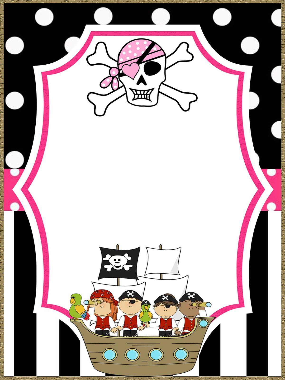 free printable pirate template