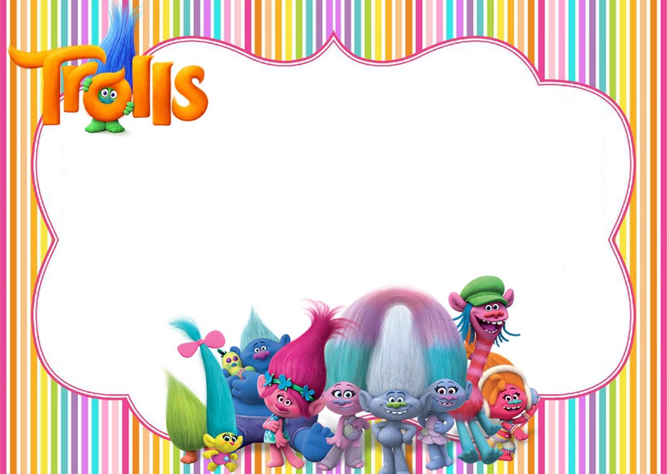 free printable trolls party invitation