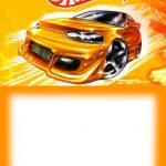 printable hot wheels invitation