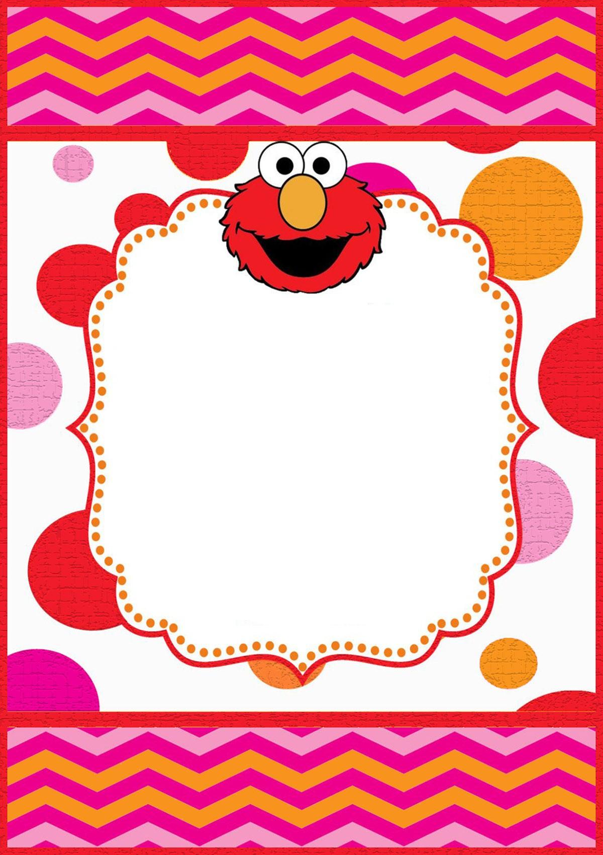 Free Printable Elmo Invitation Templates