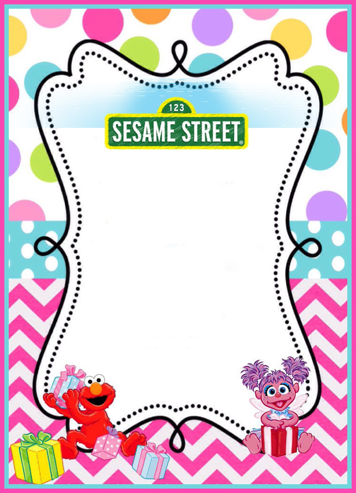 printable sesame street party