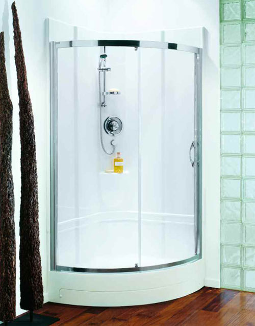 Coram 950 Quadrant One Piece Shower Pod Spacious Self Contained Leak Free All In One Shower