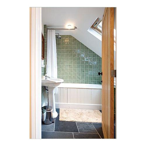 SlopedAngled Ceiling Shower Rod