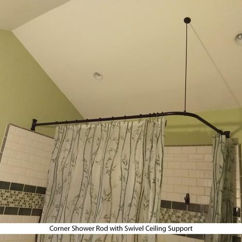 rectangular bracket shower curtain rod 27 x 72