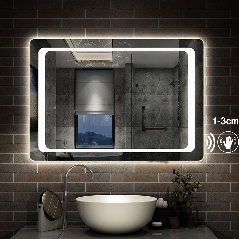Led Badspiegel Wandspiegel Mit Beleuchtung Touch Sensor Beschlagfrei Spiegel Ebay