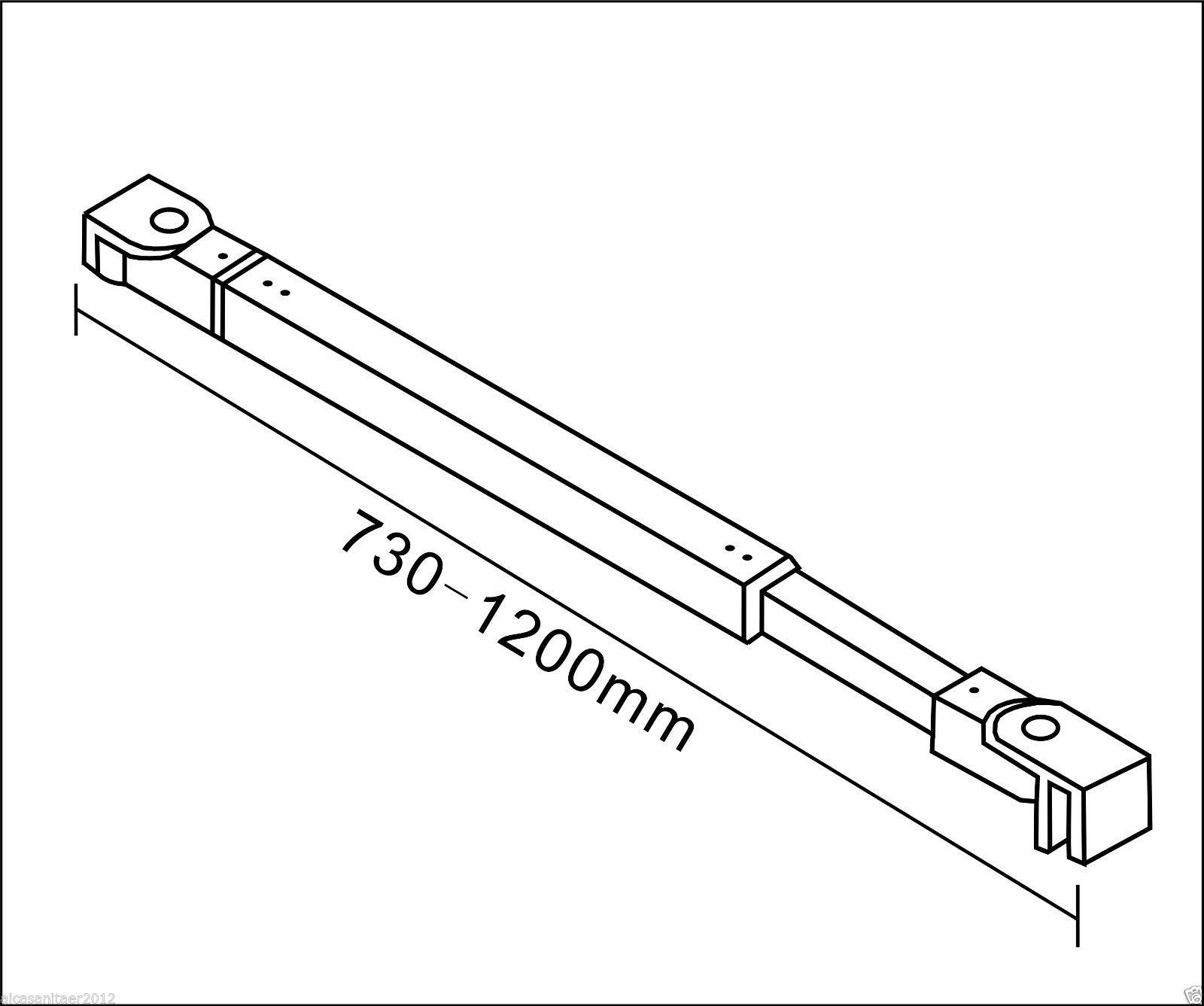 Zinc Alloy Support Bar For 6 10mm Glass Wet Room Screen