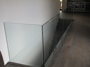 Glass Balustrades Side Mounted to wall