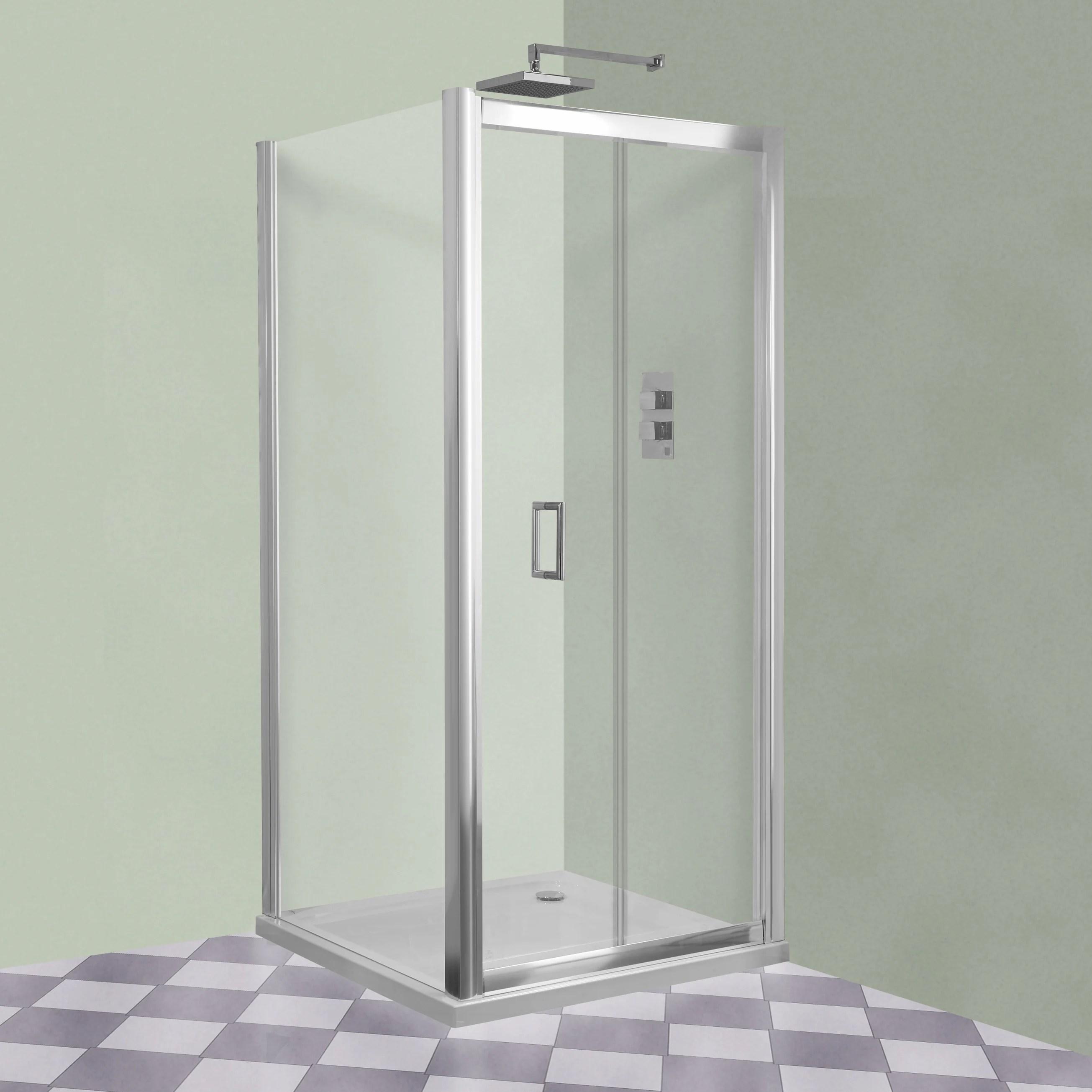 Aqua I Xtra Frameless Bifold Shower Door 760mm