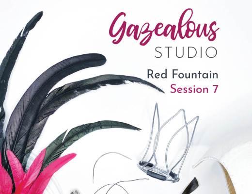 Showgirls Life | Gazealous Studio Red Fountain Showgirl hat making replay Session 7