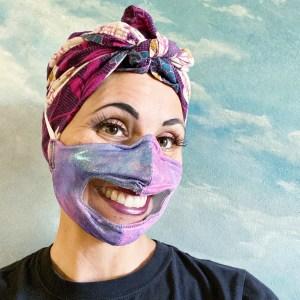Showgirls Life | Showgirl Communicator mask for hearing impaired, teachers, educators, showgirls