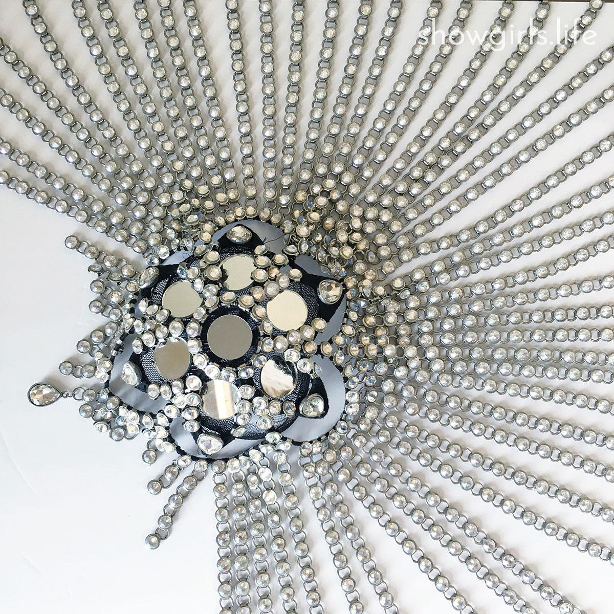 Showgirl's Life blog   Rhinestoned Showgirl headdress designed by Athena Patacsil