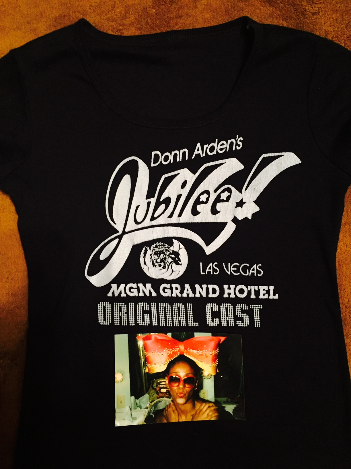 Donn Arden's Jubilee! MGM Grand Hotel Las Vegas 1981, Original Cast tshirt, courtesy of Dollie Eaglin