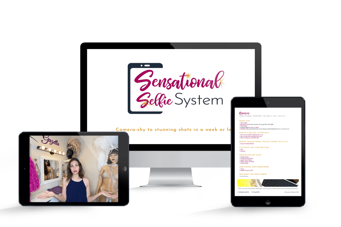 Sensational Selfie System | Camera-shy to stunning shots in a week or less. Learn how to take Better Selfies in this program.