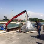 Transportar lamparas de cristal