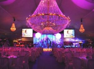 Lampara chandelier grande para eventos de 5 metros