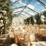 chandeliers in marquee