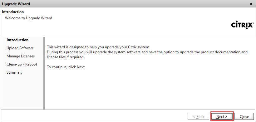 NetScaler Upgrade Wizard Introduction