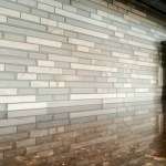 Glass subway tile backsplash Silverhawk