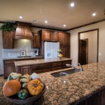 Granite breakfast bar kitchen
