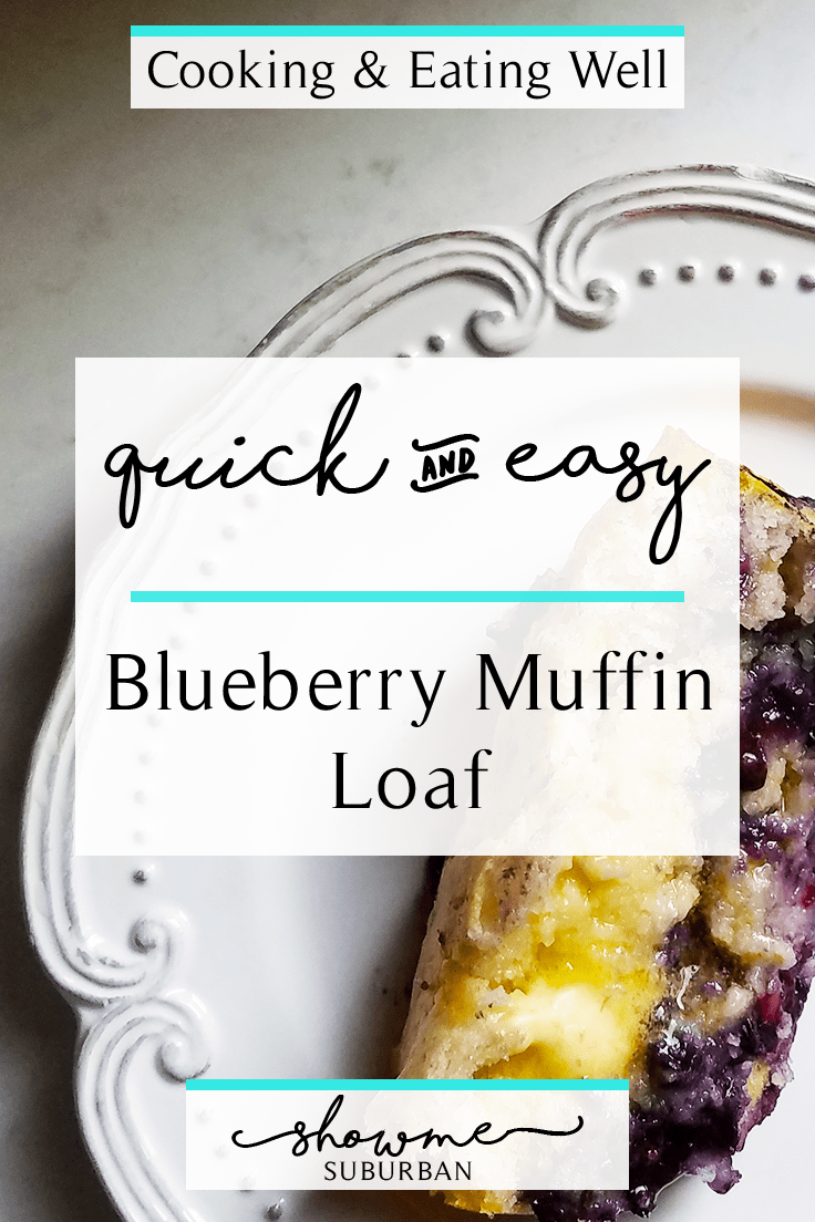 This quick and easy, 3-ingredient blueberry muffin loaf cake is healthy and delicious. Moist and bursting with blueberry flavor, it's the perfect light breakfast or snack when you're craving something sweet!
