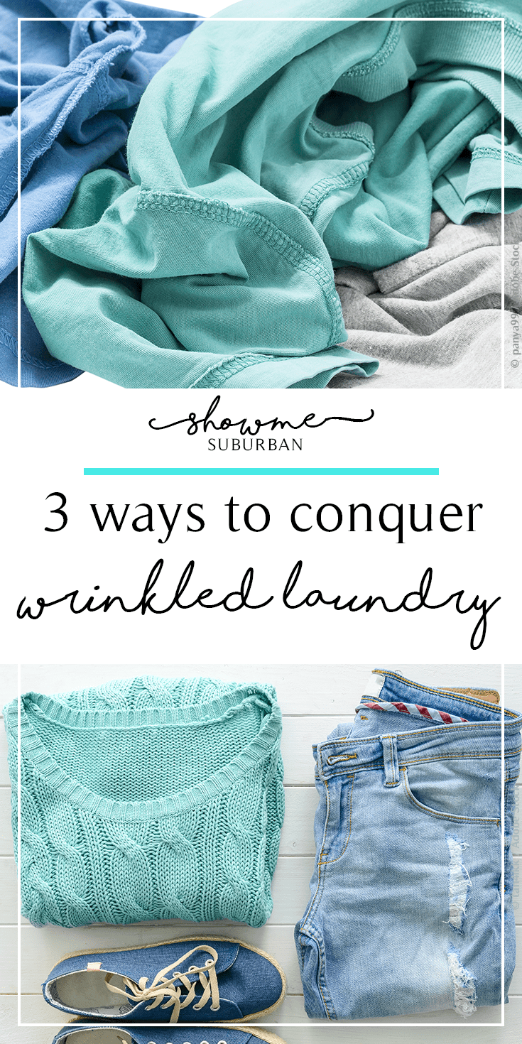 Wondering how to remove wrinkles from clothes and get laundry under control? Learn how to best remove laundry from the dryer and avoid wrinkles with these 3 laundry hacks!