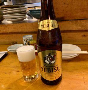 下北沢「都夏」の瓶ビール