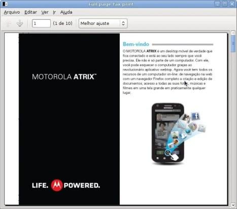 Captura de tela Full page fax print - Review: Motorola Atrix (primeiras impressões)